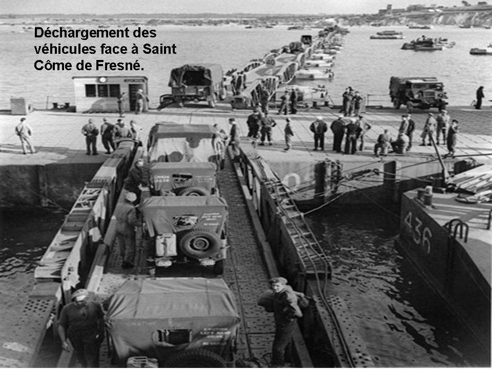D chargement des v hicules du port artificiel d 39 arromanches - Port artificiel d arromanches construction ...