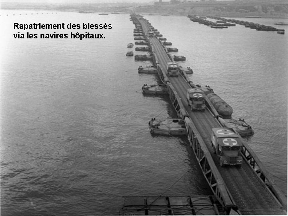 Rapatriement des bless s par le port artificiel d 39 arromanches - Port artificiel d arromanches construction ...